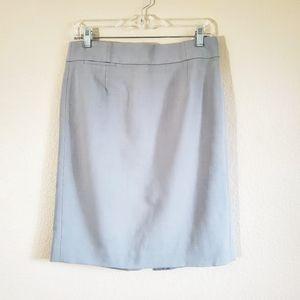 J.Crew grey wool pencil skirt